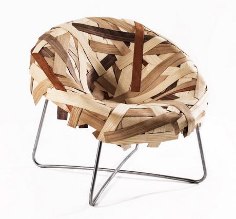 Cadeiras com materiais reciclados arte e sustentabilidade for Sillones de madera reciclada