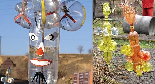 Cinco formas curiosas para reciclar garrafas de pl stico for Como hacer molinos de viento para el jardin